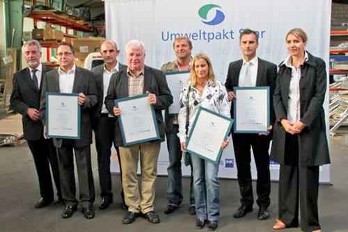 Teilnehmer Umweltpakt Saar